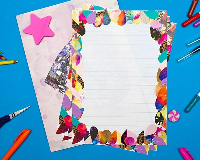 DIY letter writing set