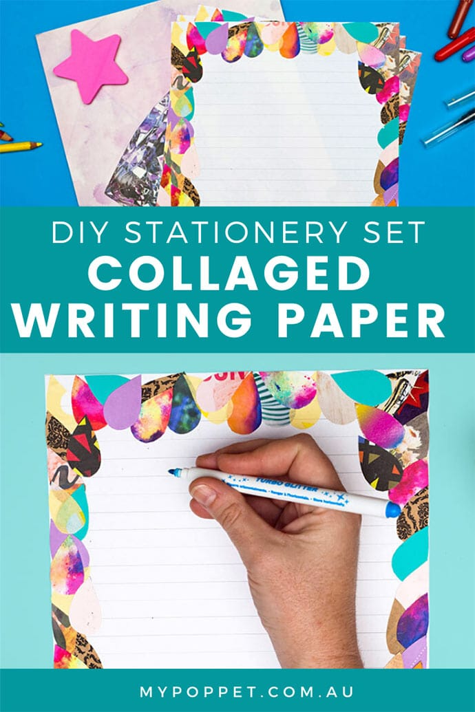 DIY letter writing paper stationery set