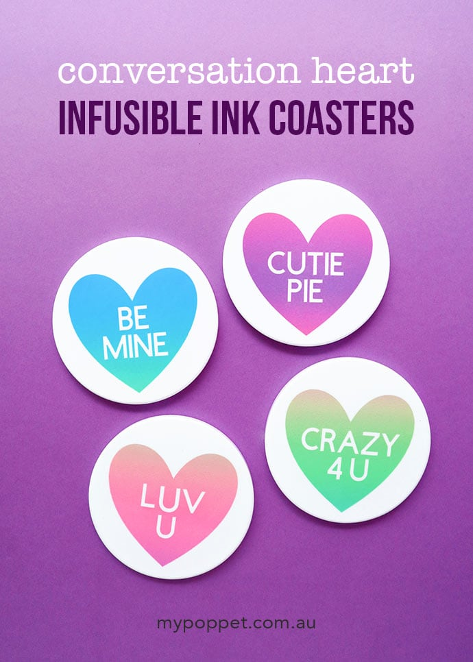 How to make cricut infusible ink coasters - mypoppet.com.au