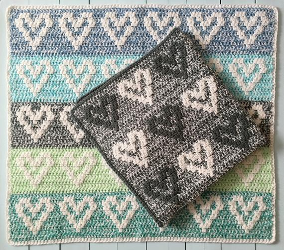 Heart Baby Blanket Pattern