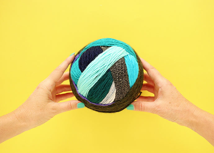 Big ball of yarn - How to make a magic yarn ball