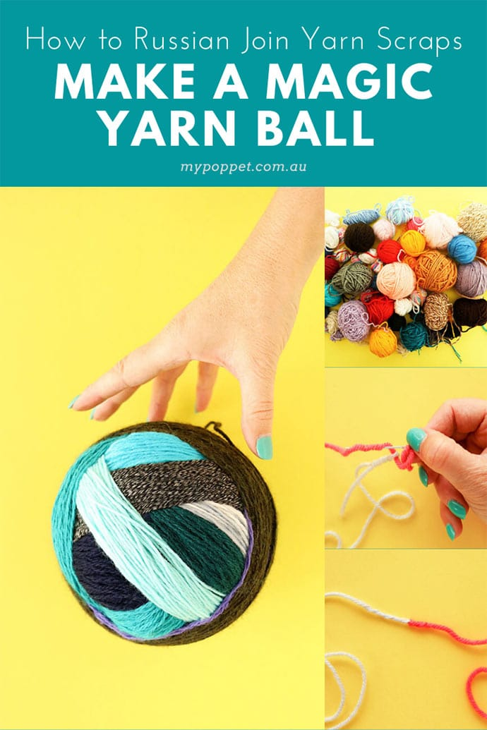 Use your yarn scraps to make a magic yarn ball with invisible joins