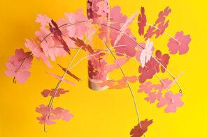 DIY Paper Cherry Blossom Mobile & Lantern
