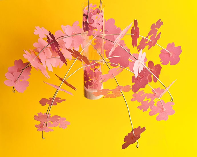 DIY Sakura Cherry Blossom lantern mobile