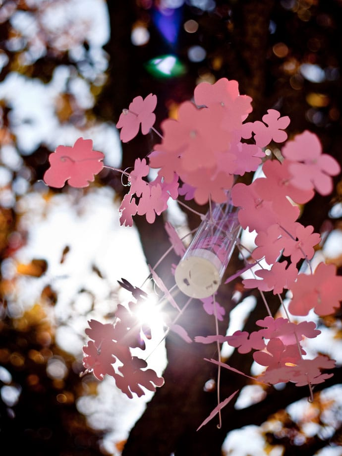 Paper Craft Cherry Blossom Mobile Lantern