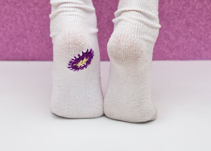 mending socks with holes