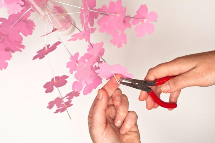 How to make a paper Cherry Blossom Mobile