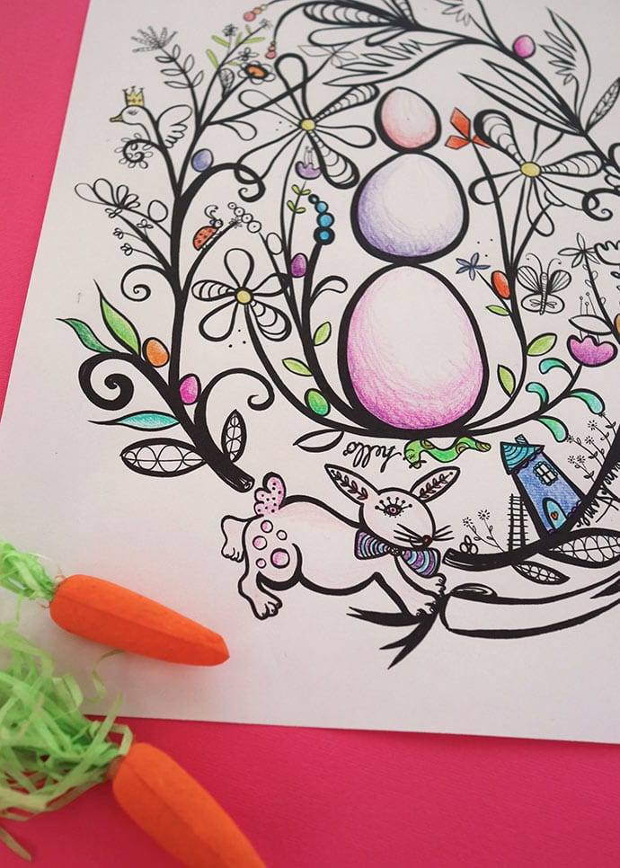 printable easter coloring page