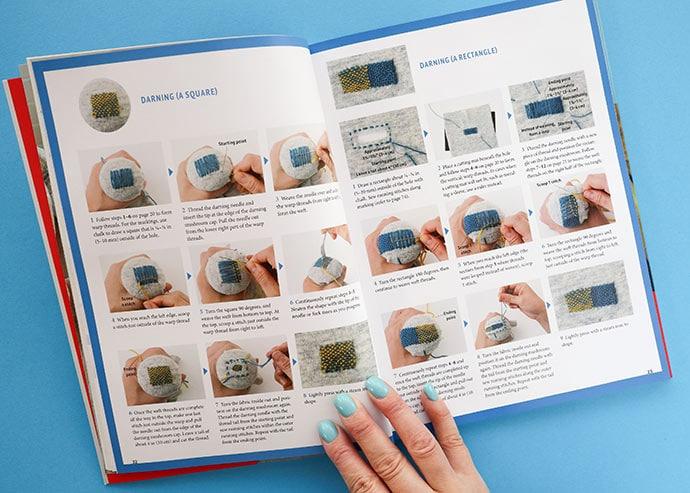 Joyful mending -book with darning instructions
