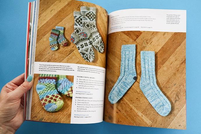 mending socks