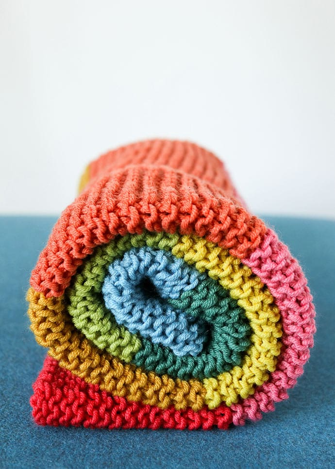 easy knit baby blanket pattern for beginners