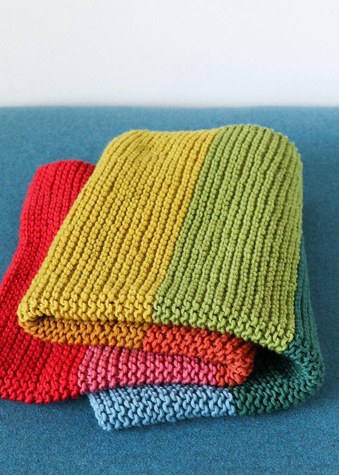 Easy baby blanket knitting pattern - mypoppet.com.au