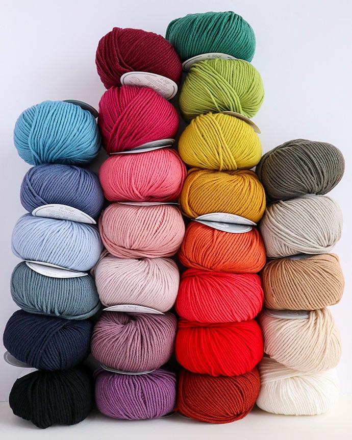 color range DMC woolly 5 yarn