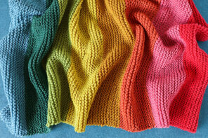 Rainbow Baby Blanket Knitting Pattern