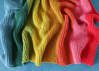 Easy baby blanket knitting pattern - mypoppet.com.au