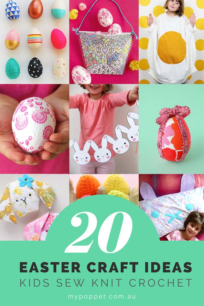Best Easter Craft ideas for sewing, knitting, crochet, kids craft