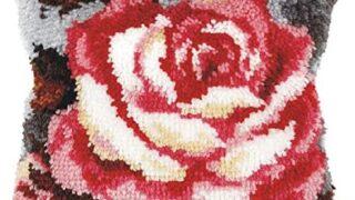 Rose Latch Hook Cushion Kit