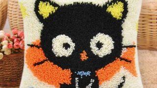 Cute Cat Latch Hook Cushion Cover Craft Kit
