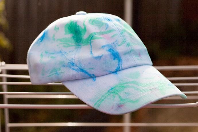 DIY Marble pattern Baseball Cap - mypoppet.com.au