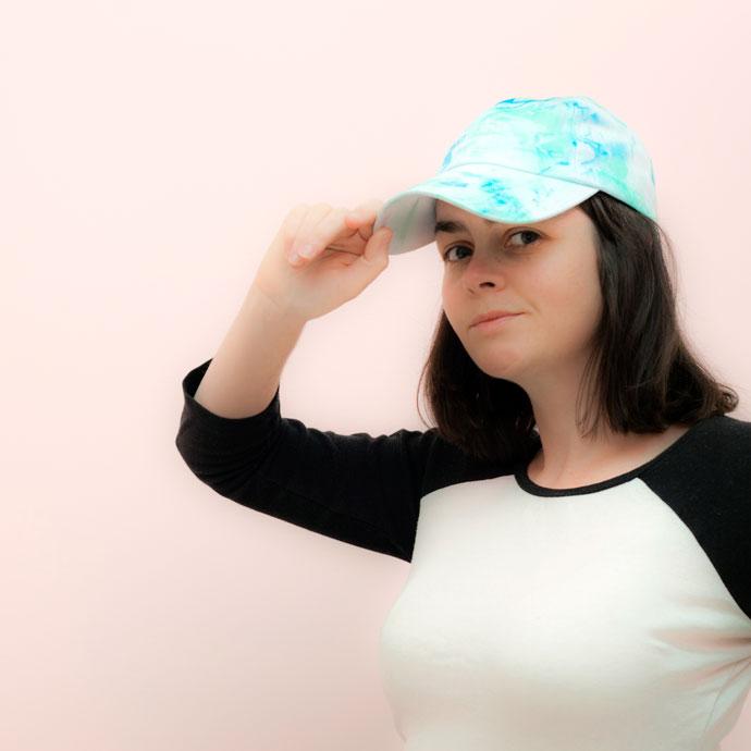 Marbling a Cap - mypoppet.com.au