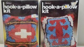 Hook A Pillow Kit Vintage Latch Hook Craft Kits x 2