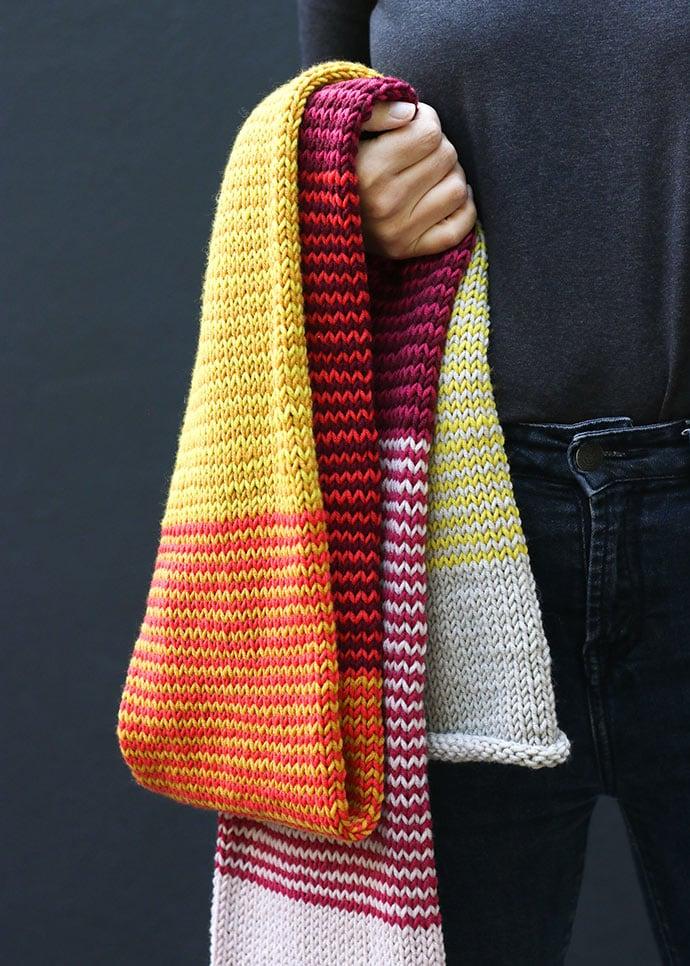 scarf knit pattern circular needles