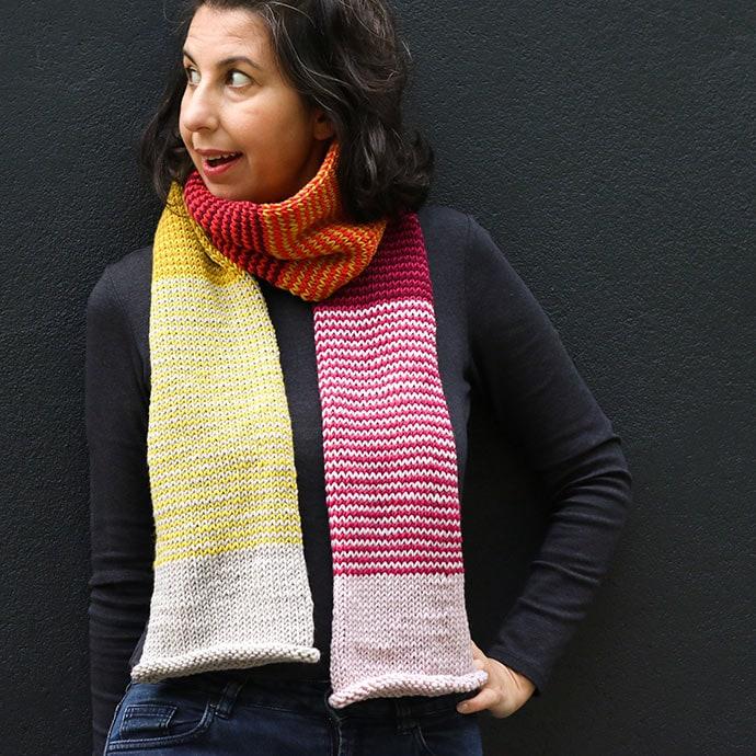 Tube scarf knitting pattern - mypoppet.com.au