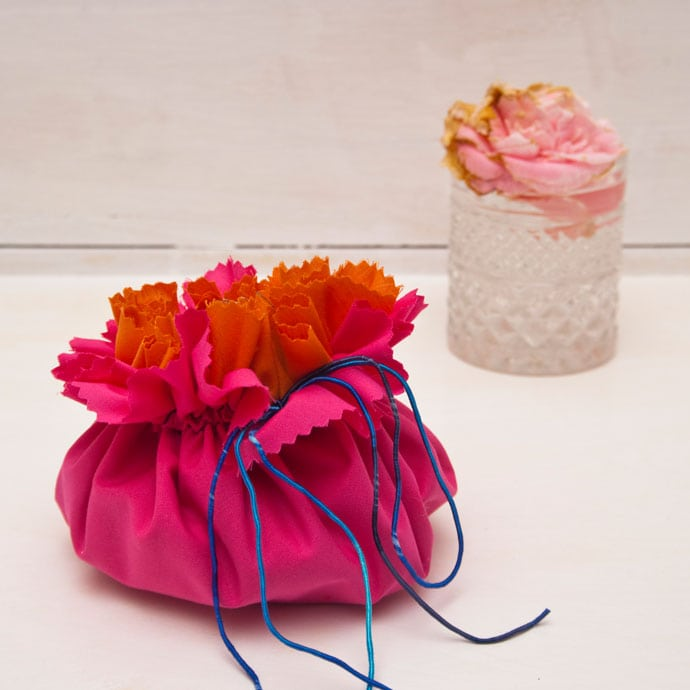 DIY Pocketed Drawstring Bag - mypoppet.com.au