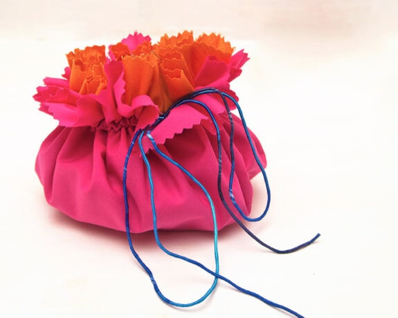 Drawstring pouch sewing pattern