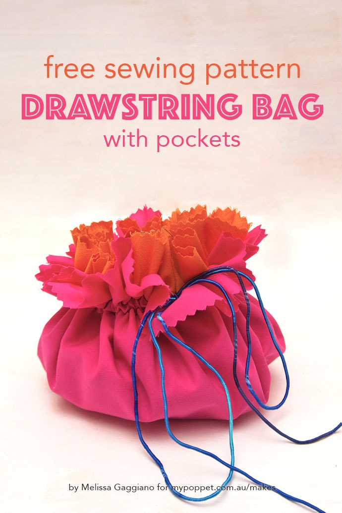 Drawstring bag sewing pattern - mypoppet.com.au