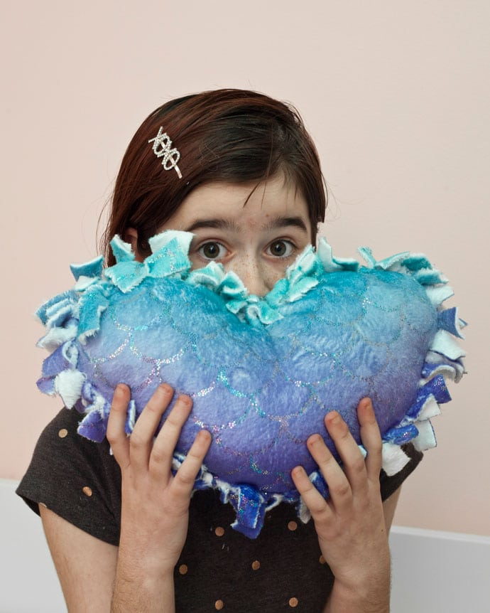 No-sew heart pillow - Knotted Love Cushion - mypoppet.com.au