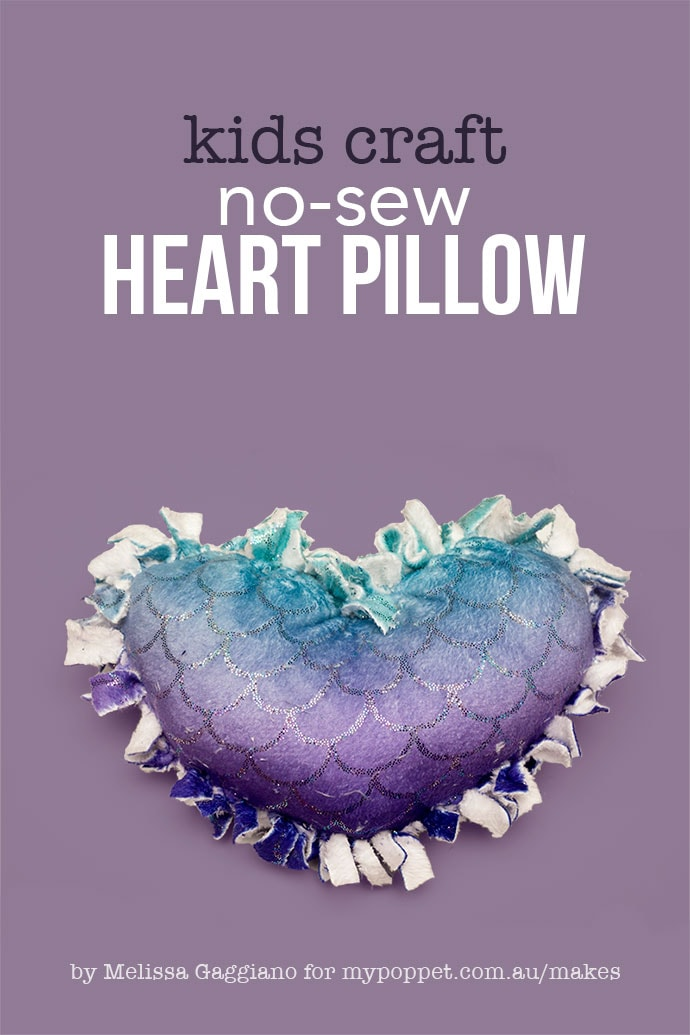 no sew knotted heart pillow - mypoppet.com.au