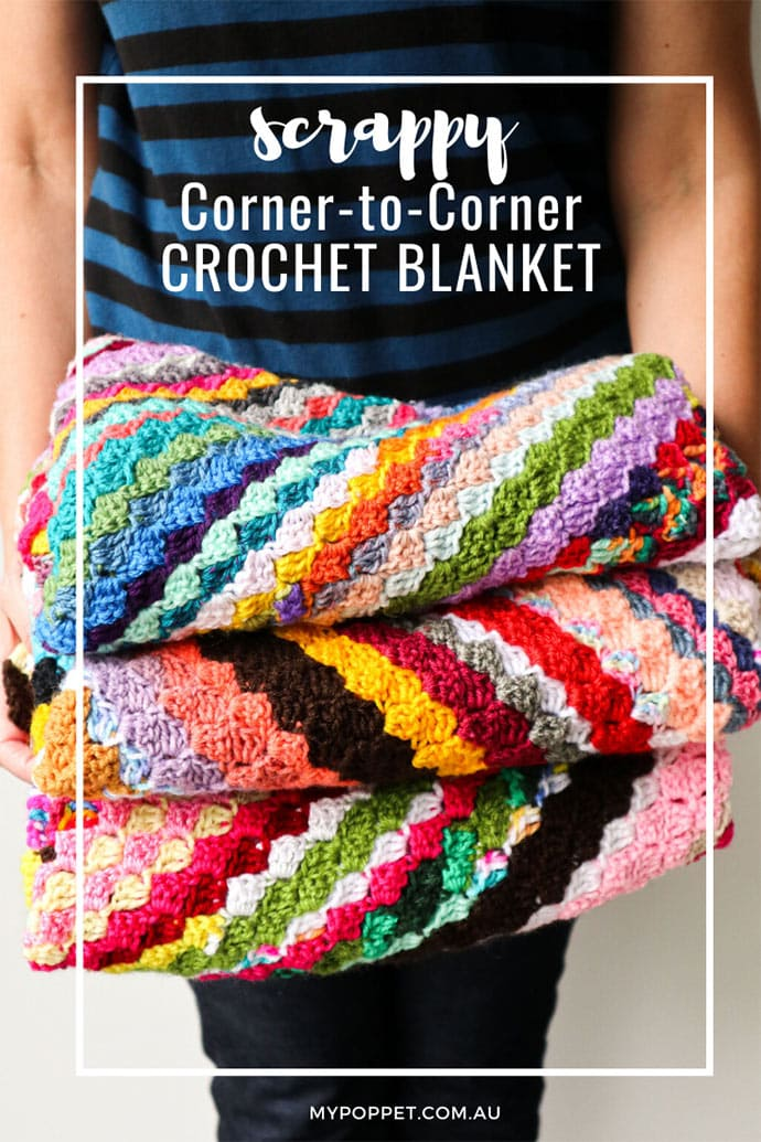 Scrappy Corner To Corner Crochet Blanket My Poppet Makes
