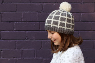 Grid Beanie knitting pattern