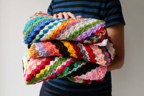 Scrappy Corner-to-Corner Crochet Blanket