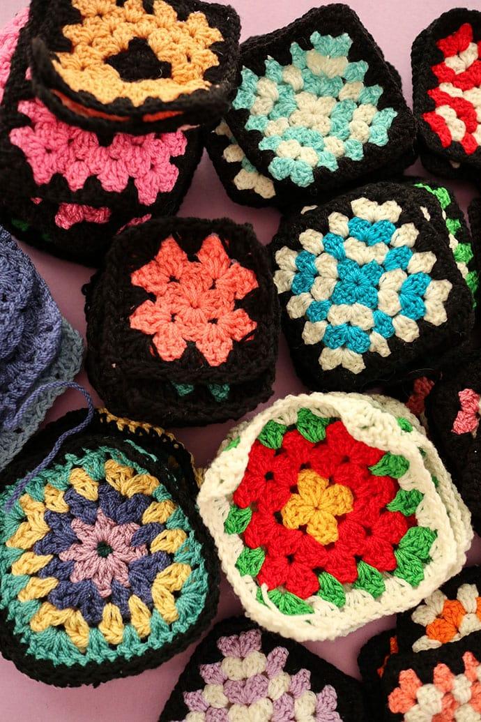 assorted granny squares