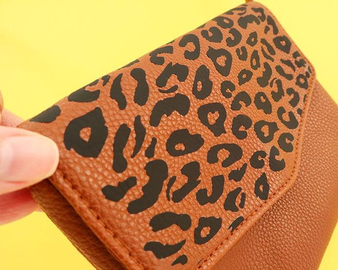 Leopard Print Bag makeover