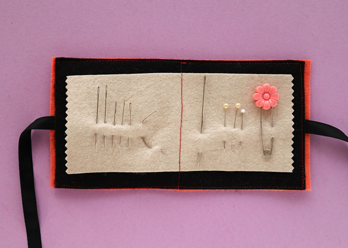 How to make a felt needle book