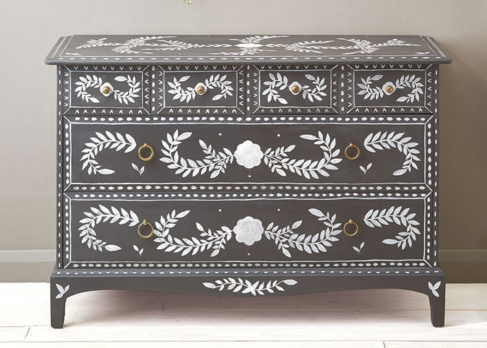Faux inlay dresser furniture makeover