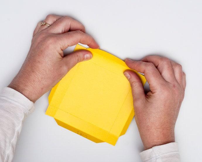 folding paper gift box lid