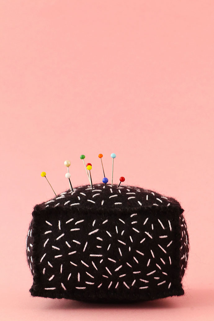Lamington Pin cushion made from felt