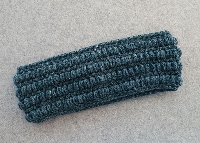 puff stitch crochet cowl pattern reverse