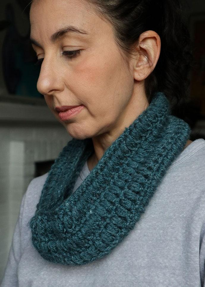 free crochet patten - one skein cowl