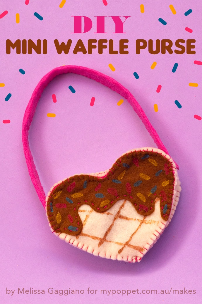 Diy Mini waffle purse - sewing project idea