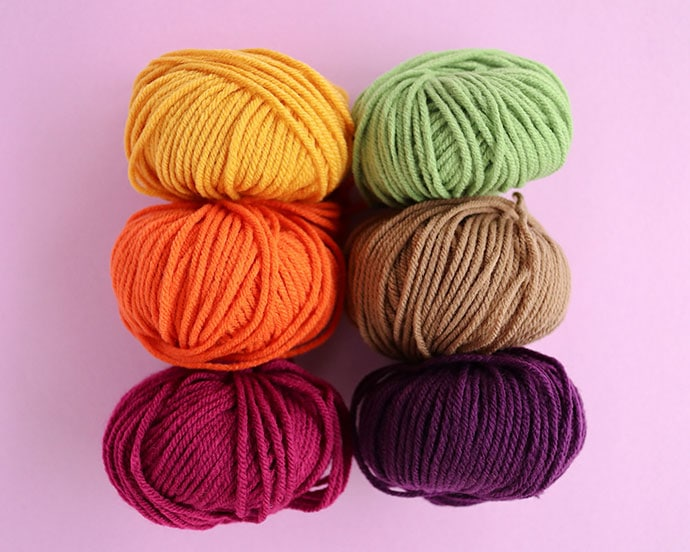 Fair Isle Liberty Craft Colors collection - eat your veggies