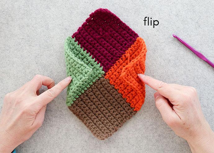 finished crochet slipper sole