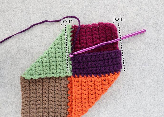 Adding toe to crochet slippers