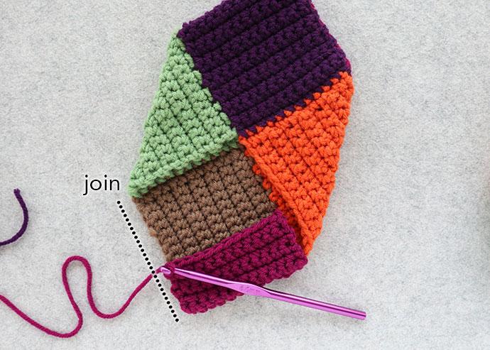 Adding heel to crochet slippers