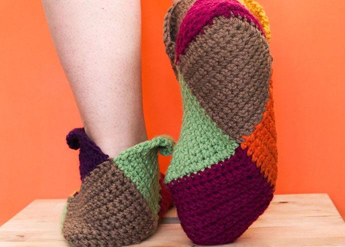 sole of crochet slipper
