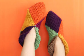 Harlequin Crochet Slippers – Free Crochet Pattern